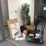 神戸オフィスにKIVI手動運転装置のデモスタンドが届きました。