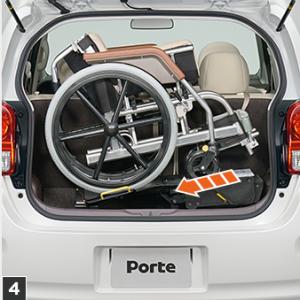 トヨタポルテ、車いす収納リフト付き福祉車両、操作手順4