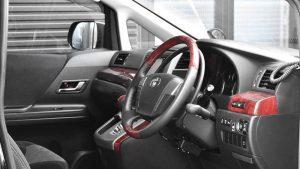 トヨタアルファードに手動運転装置アクセルリング&ブレーキレバーを導入