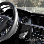 アウディ A4×手動運転装置アクセルリング&ブレーキレバー